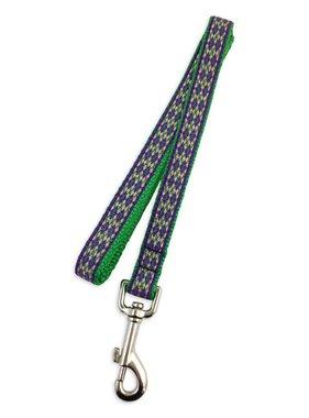 Mardi Gras Diamond Pet Leash, Skinny