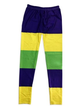 Mardi Gras Wide Stripe Leggings