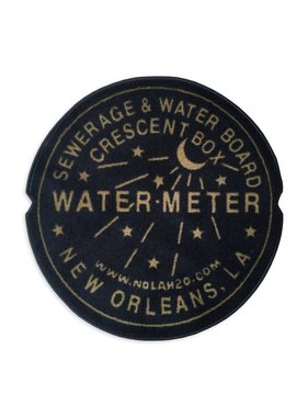 Indoor New Orleans Water Meter Rug, Black