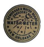Indoor New Orleans Water Meter Rug, Gold