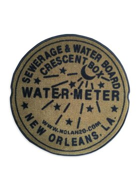 Fleurty Girl Indoor New Orleans Water Meter Rug, Gold