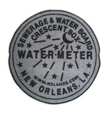 Indoor New Orleans Water Meter Rug, Grey