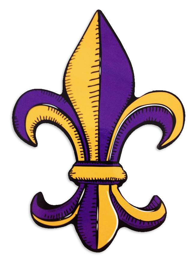 Purple and Gold Fleur de Lis Car Magnet