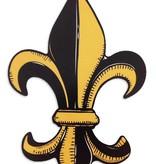 Black and Gold Fleur de Lis Car Magnet