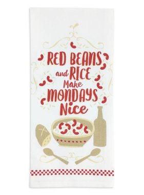 Red Beans And Rice Make Mondays Nice Kitchen Towel