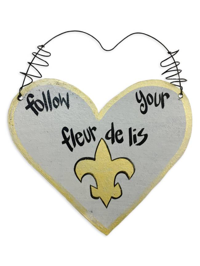 Follow Your Fleur de Lis Wall Art