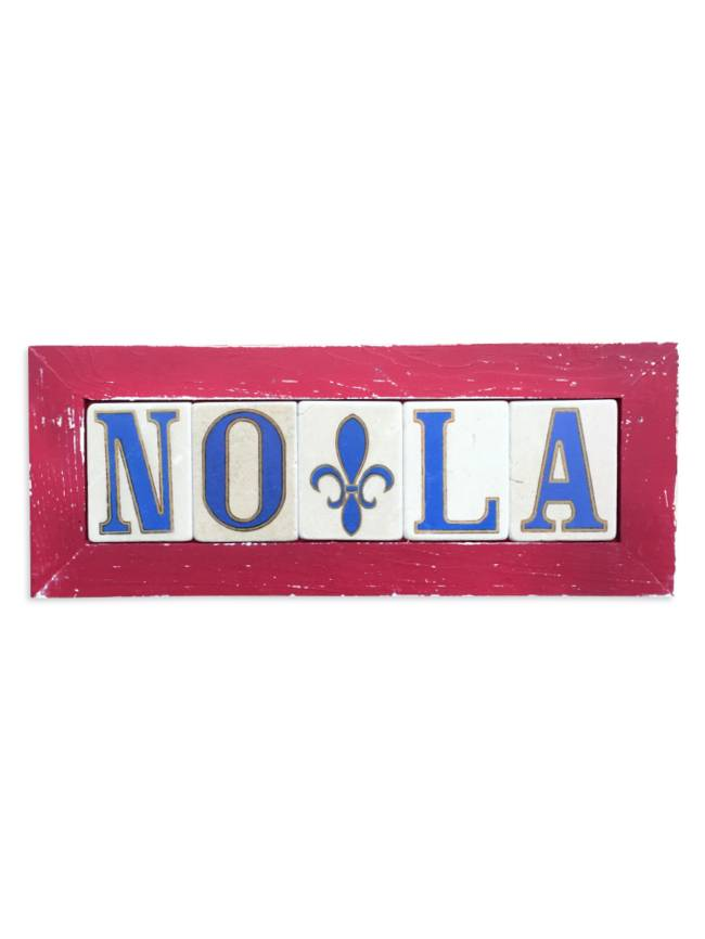 Preservation Tile Co. NOLA Fleur de Lis Framed Tiles