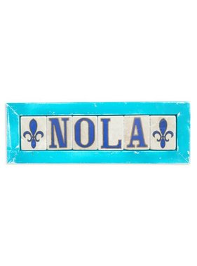 Preservation Tile Co. NOLA Double Fleur de Lis Framed Tiles