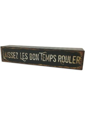 Laissez Les Bon Temps Rouler Box Sign