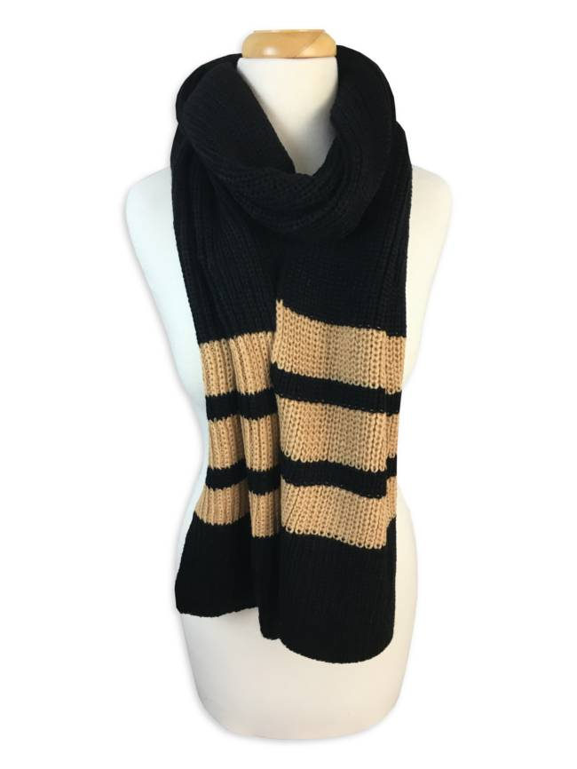 Black & Gold Knit Scarf