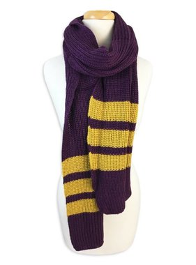 Purple & Gold Knit Scarf