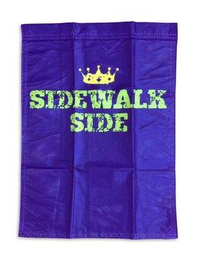 Mardi Gras Garden Flag, Sidewalk Side