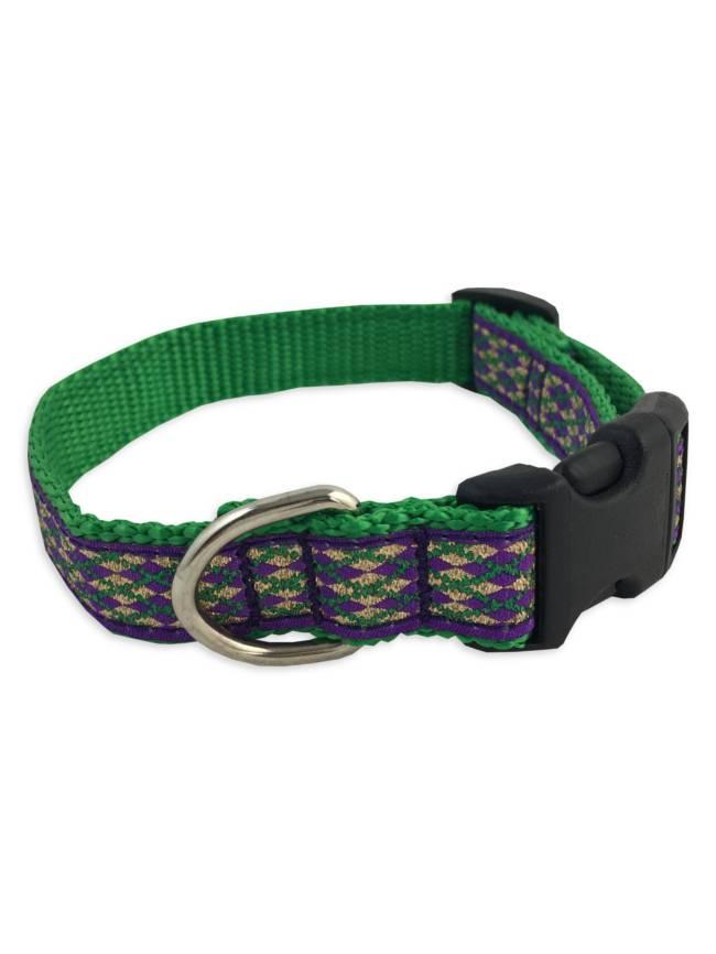 Mardi Gras Diamond Pet Collar