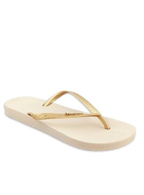 Ana Flip Flops by Ipanema in Gold