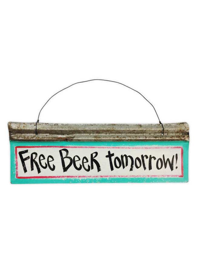 Free Beer Tomorrow Wall Art