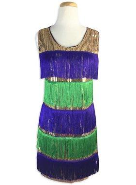 Mardi Gras Flapper Dress