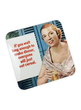 Cereal For Dinner Cork Coaster