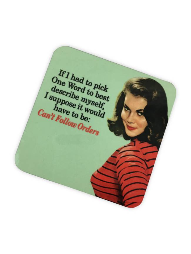 Follow Orders Cork Coaster
