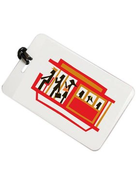 Red Streetcar Luggage Tag