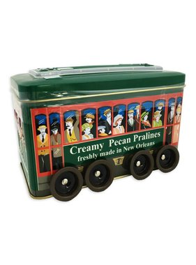 Creamy Pecan Pralines in Decorative Streetcar Tin