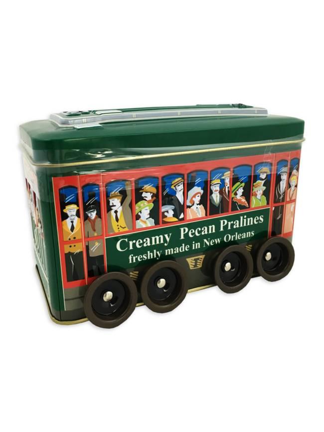 Creamy Pecan Pralines in Decorative Streetcar Tin