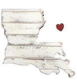 Louisiana Heart Wall Art