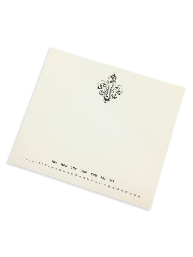 Fleur de Lis Mousepad Notepad