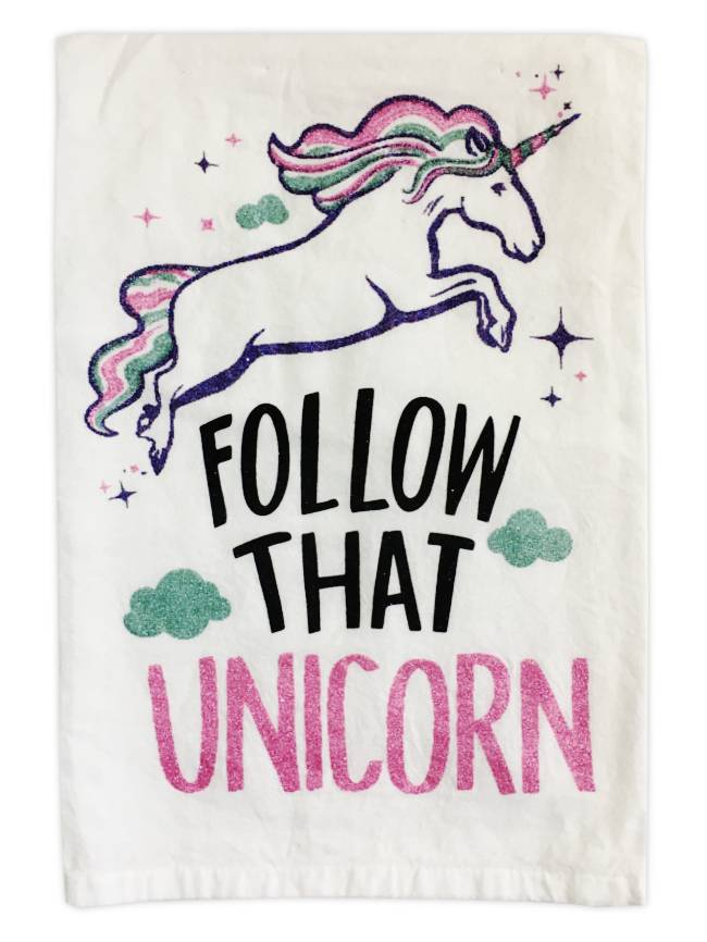 Primitives by Kathy Follow That Unicorn Kitchen Towel