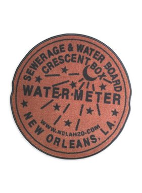Indoor New Orleans Water Meter Rug, Rust