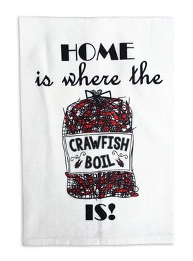 Home Is Where The Crawfish Boil Is Tea Towel
