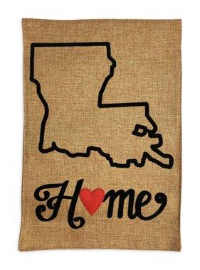 Louisiana Home Garden Flag