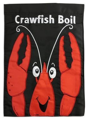 Crawfish Boil Garden Flag