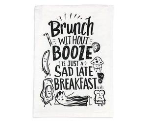 sad breakfast tea towel fleurty girl