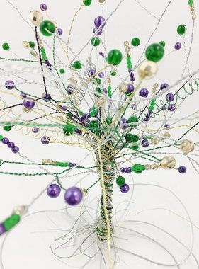 Mardi Gras Wire Bead Tree