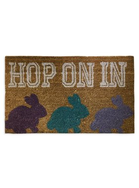 Hop On In Easter Bunny Door Mat