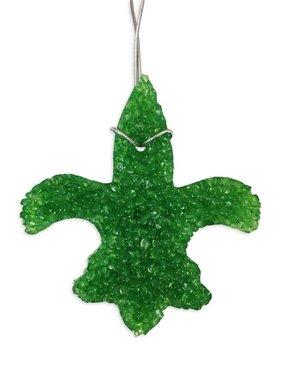 Fleur de Lis Air Freshener, Green