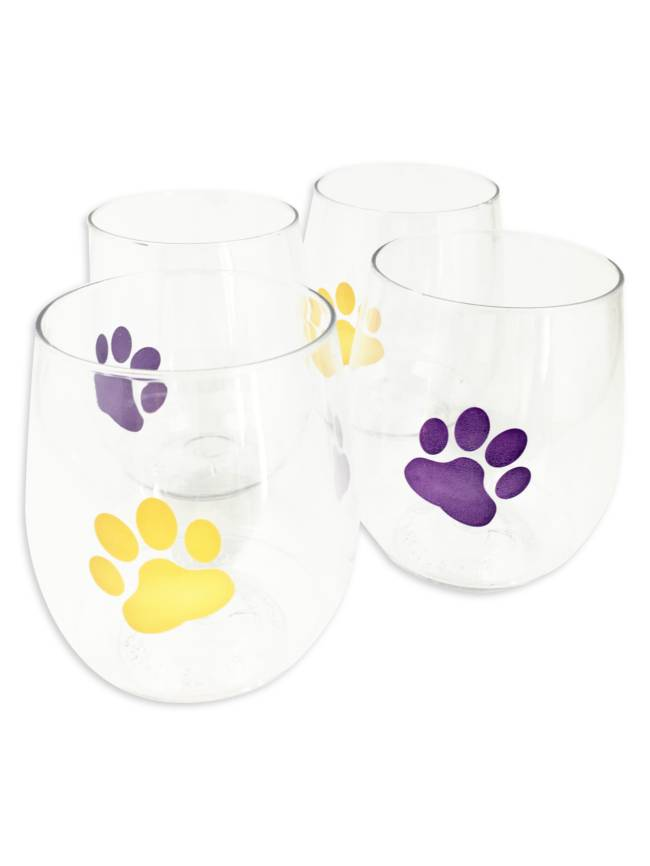 Tiger Paw Stackable Shatterproof Wine Glasses