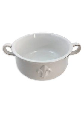 Fleur de Lis Double Handle Bowl