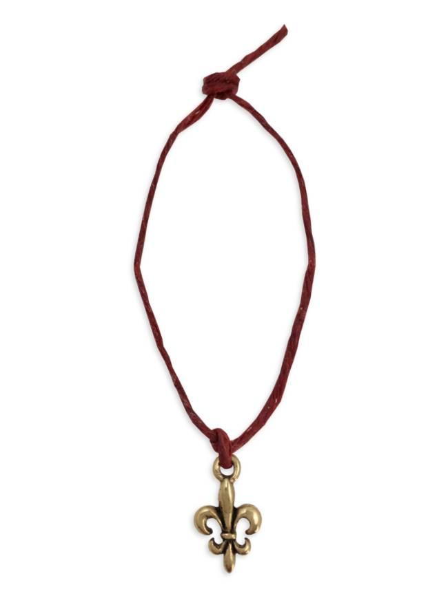 Mini Charm Bracelet, Gold Fleur de Lis