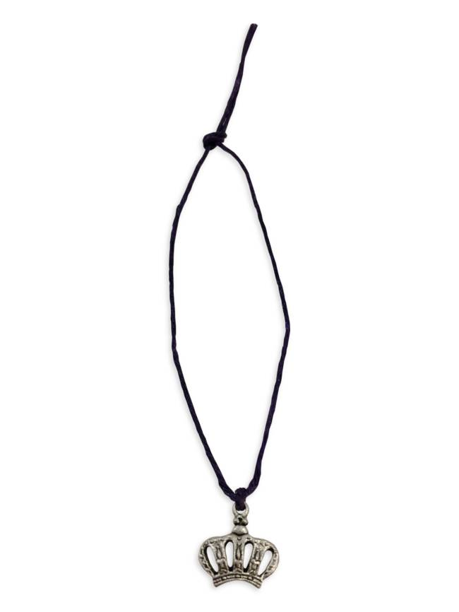 Mini Charm Bracelet, Silver Crown