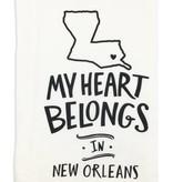 Primitives by Kathy My Heart Belongs in New Orleans Towel