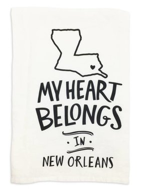 Primitives by Kathy My Heart Belongs in New Orleans Towel