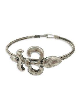 Fleur de Lis Wire Bracelet, Silver