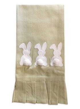 Bunny Ruffle Hand Towel