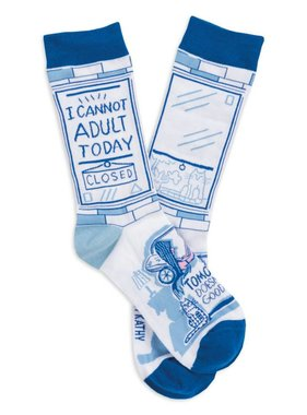 I Cannot Adult Today Socks