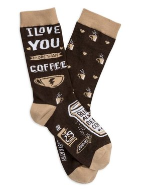 I Love You More Than Coffee Socks