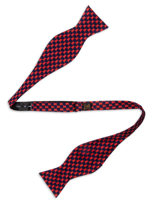 Micro Crabs Silk Butterfly Bow Tie