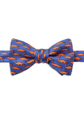 Mini Alligators Silk Bow Tie, Royal Blue