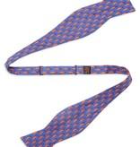 Mini Alligators Silk Bow Tie, Royal Blue