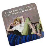 Hate Days Cork Coaster